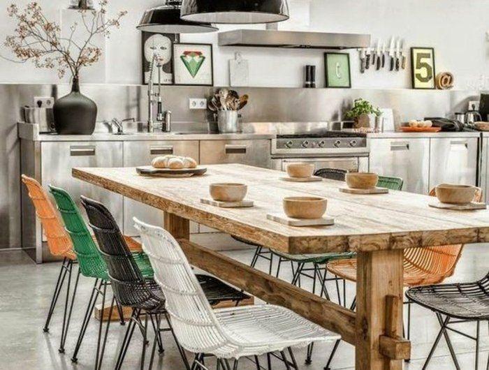 Quelle Déco Salle à Manger Choisir Idées En Photos Chaises - Chaises italiennes salle manger pour idees de deco de cuisine