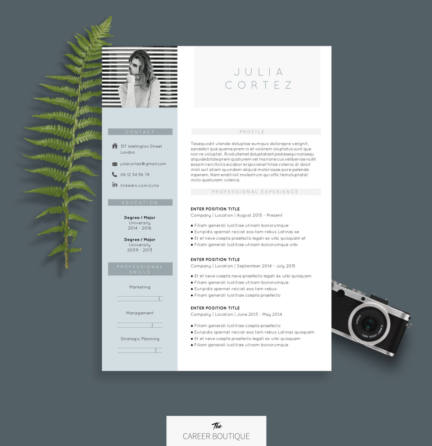 CV Template Julia Resume Format Cover Letter in