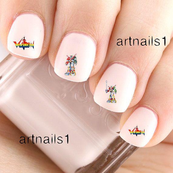 Voltron Defender of The Universe Nail Art Polish by artnails1 | Nail ...