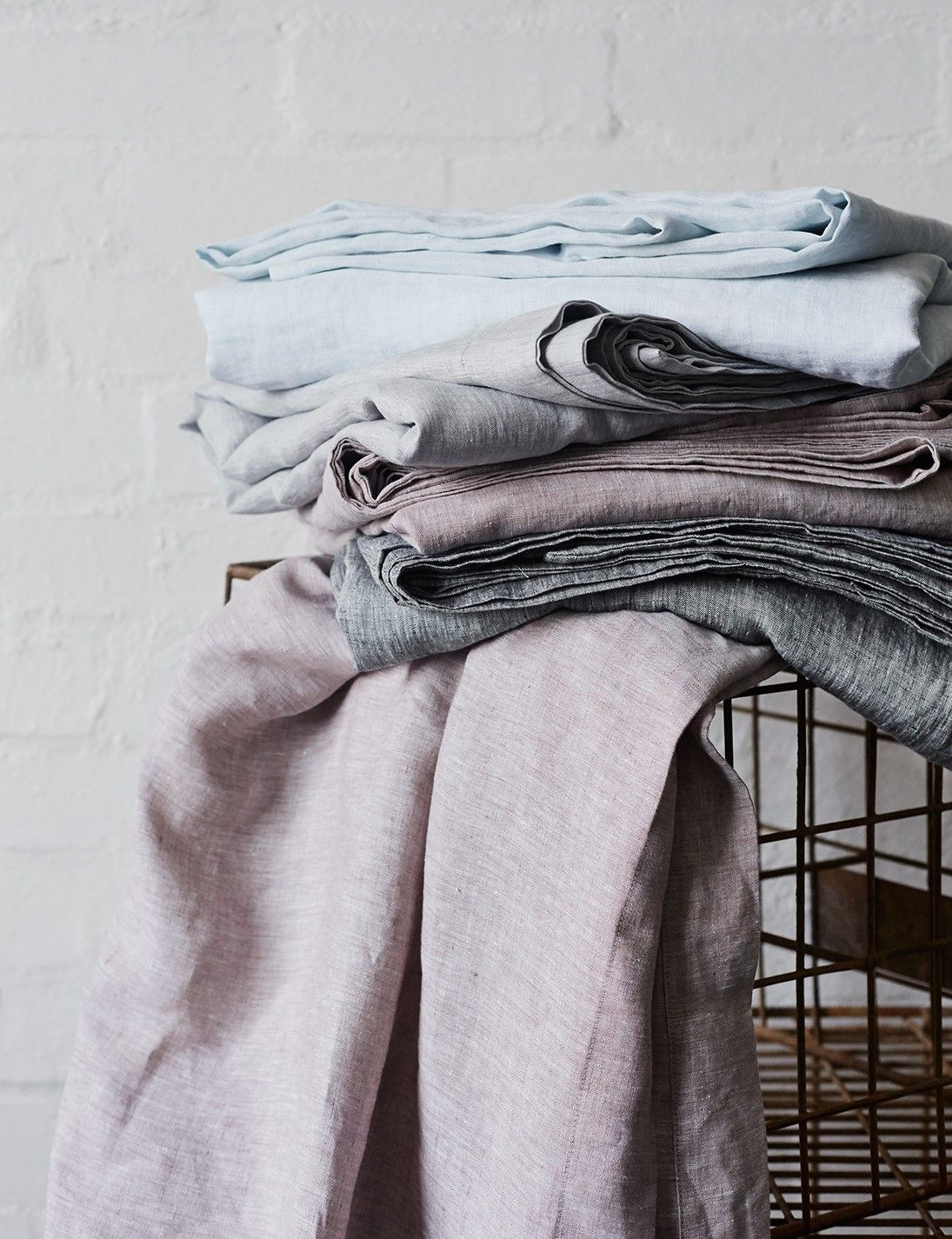 Abode Living - Bed Linen - Loft Pure Italian Vintage Washed Chambray Bed Linen - Abode Living