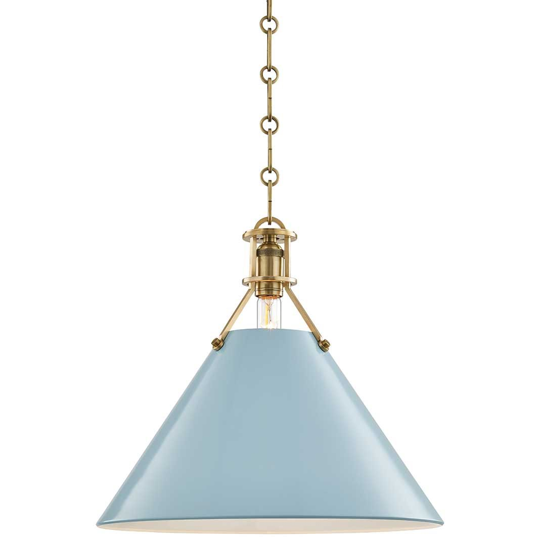 Painted No 2 Pendant By Hudson Valley Lighting Mds351 Agb Dbl In 2021 Blue Pendant Light Ceiling Pendant Lights Single Pendant Lighting