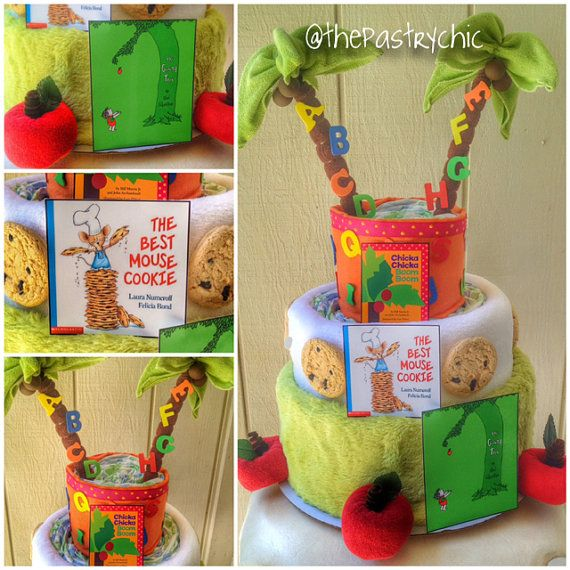 Children's Book Theme Baby Shower Diaper Cake By