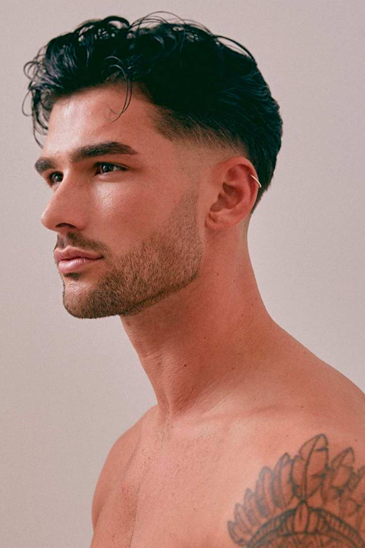 Wavy Fringe + Fade Haircut