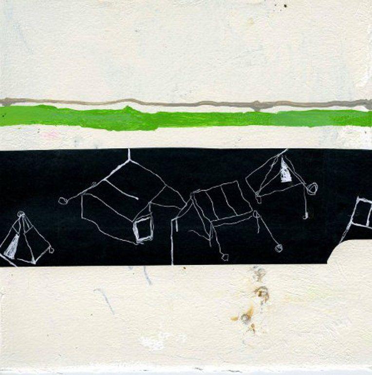 """サーチオンラインアーティスト:ゲイルvollrath、ペンとインク、2012年、ドローイング """"テントタウン"""""""