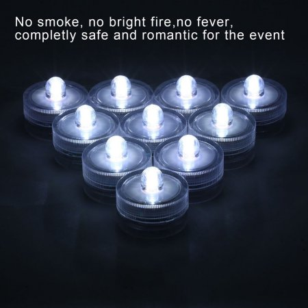 36 Pcs Led Submersible Light Candle Lamp For Wedding Party