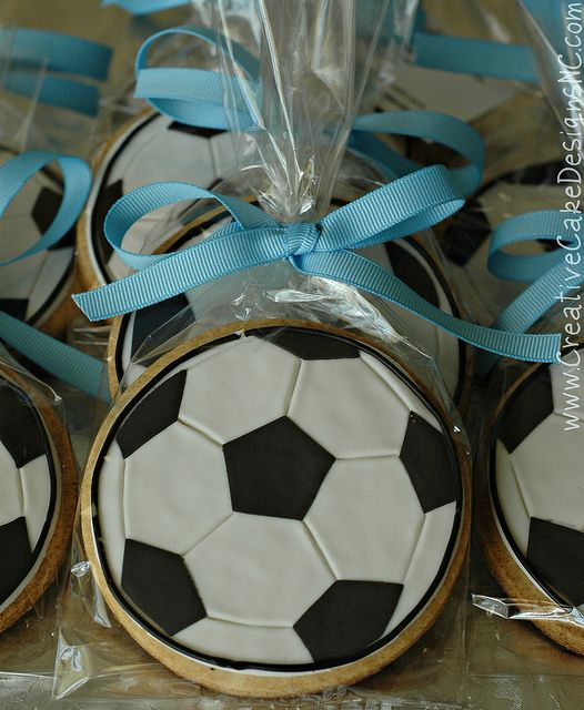 Soccer Cookie Favors by Creative Cake Designs (Christina), via Flickr