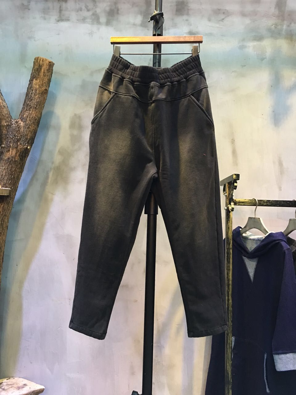 New Arrival Color Faded Cheap Baggy Pants Plain Cotton Pants #baggy #loose #large #harem #pants #black #cheap #wholesale #dropshipper