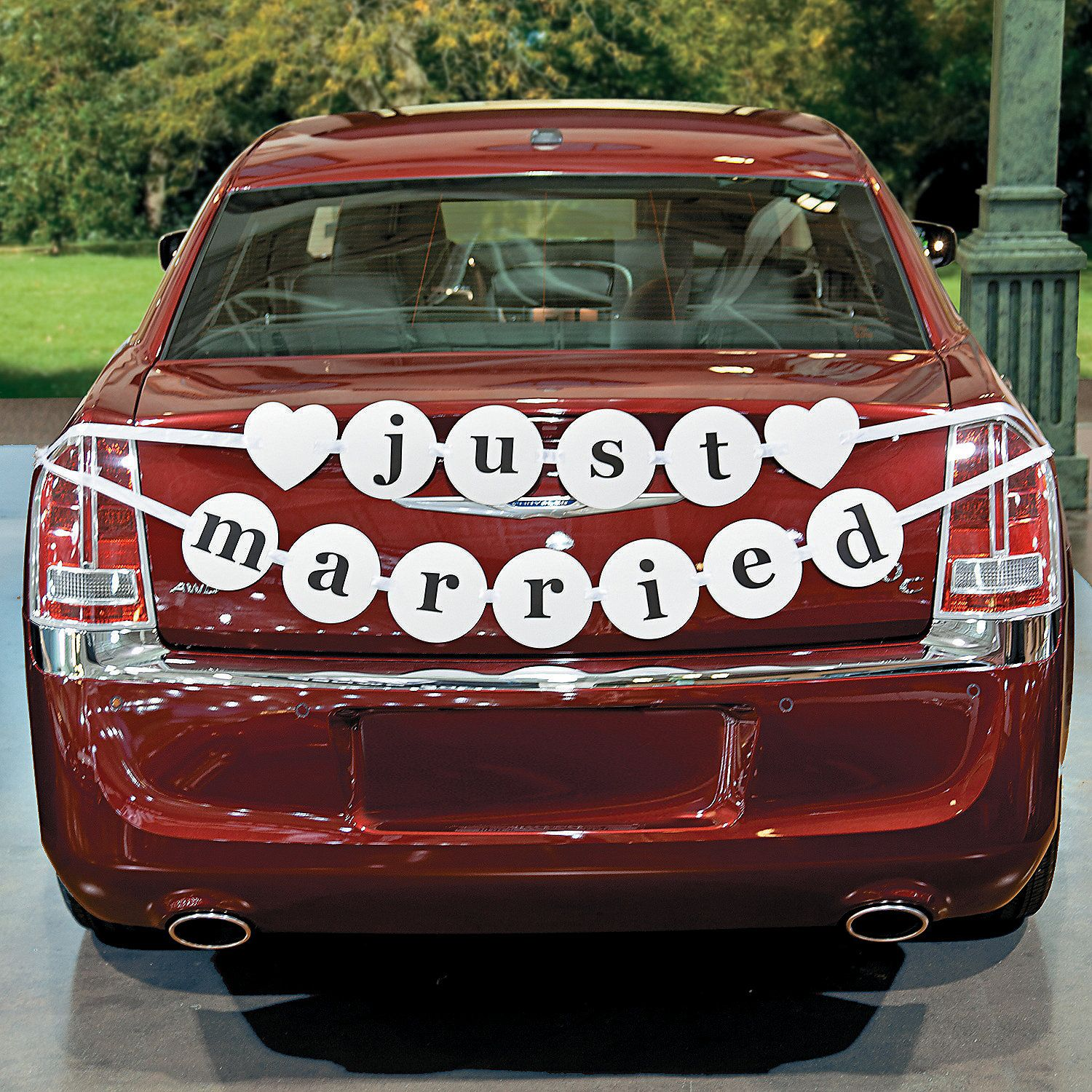 just married car pennant banner  oriental trading  just