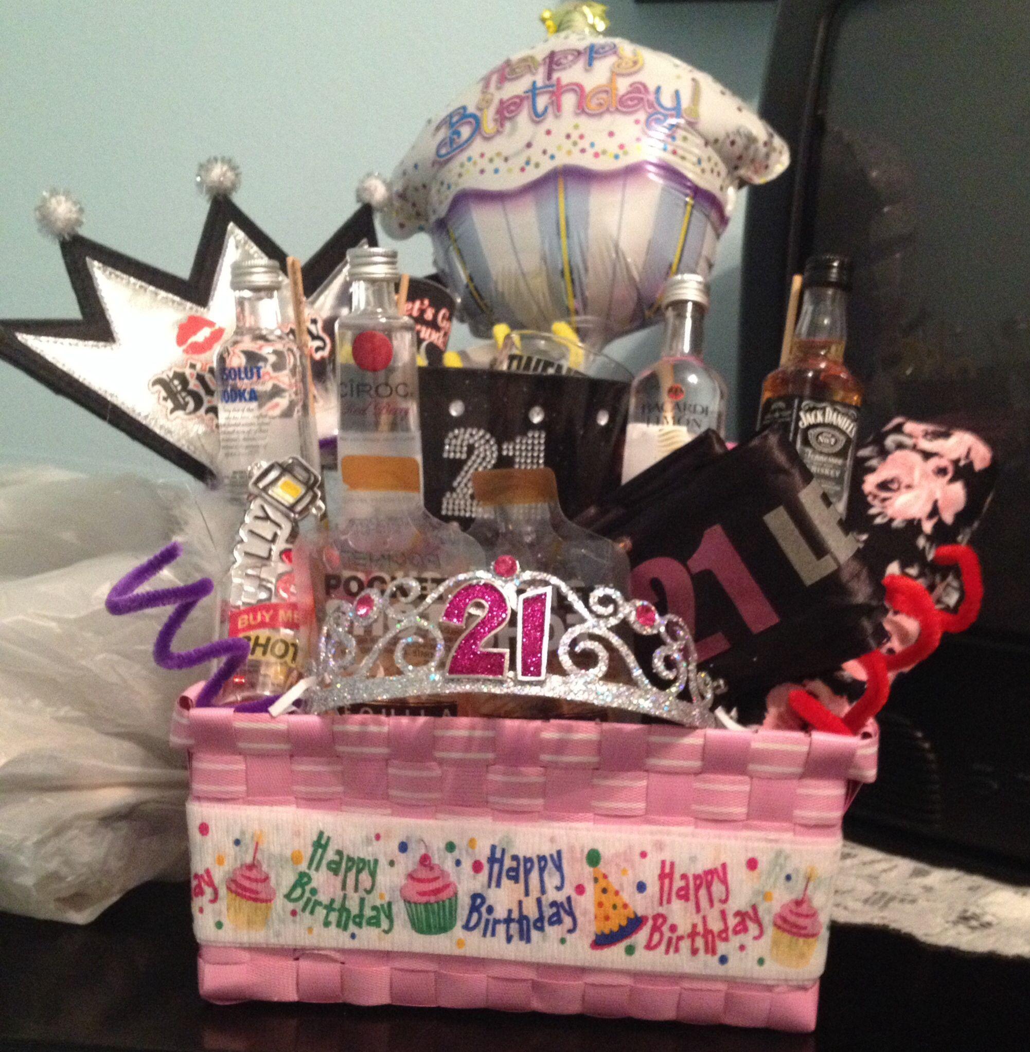 21st birthday basket for my best friend birthday gifts
