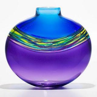 Transparent Vortex art glass Vase