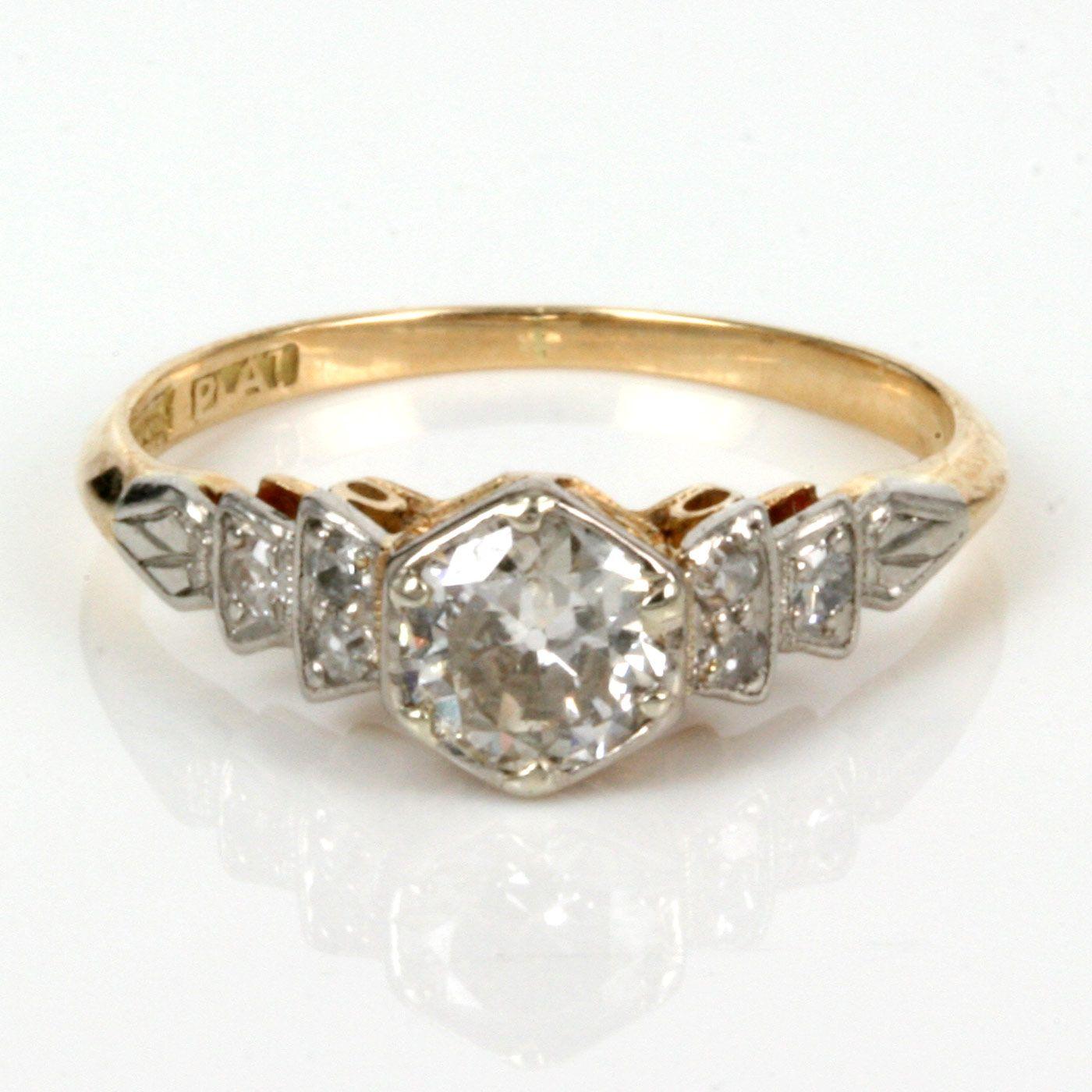 Antique Diamond Rings Buy Antique Diamond Engagement Ring