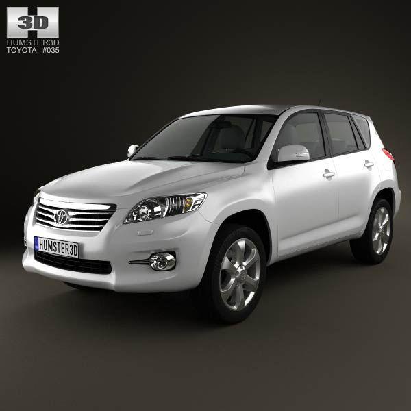 3d Model Of Toyota Rav4 European Vanguard 2012 Combi Y Nissan