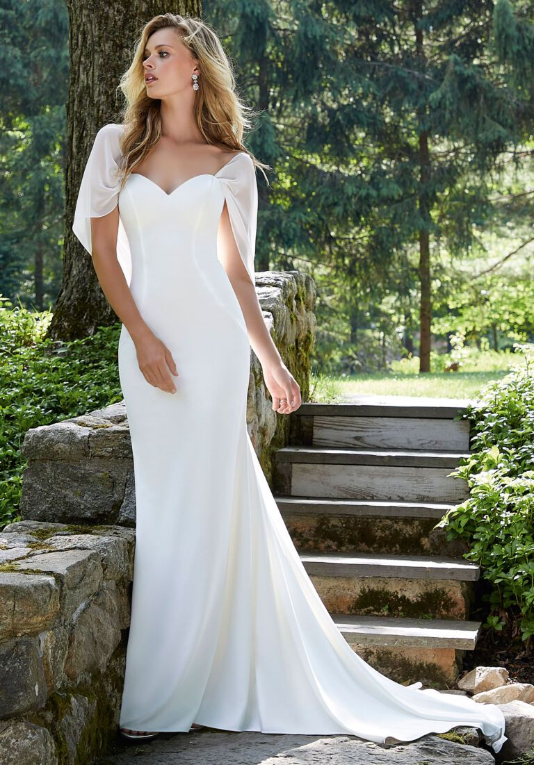 Brianna Wedding Dress Morilee In 2021 Fit And Flare Wedding Dress Wedding Dress Store Used Wedding Dresses
