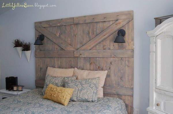 Lovely 13 DIY Headboards Made From Repurposed Wood