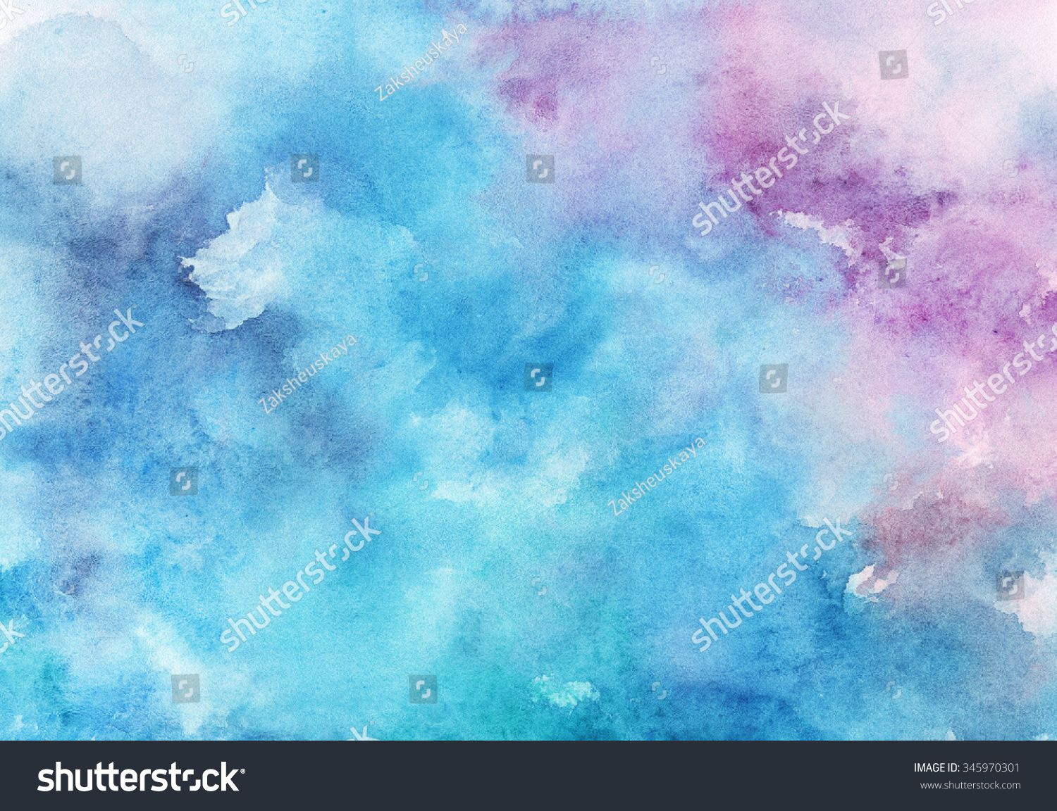 Watercolor Wet Background Blue Watercolor Abstract Background