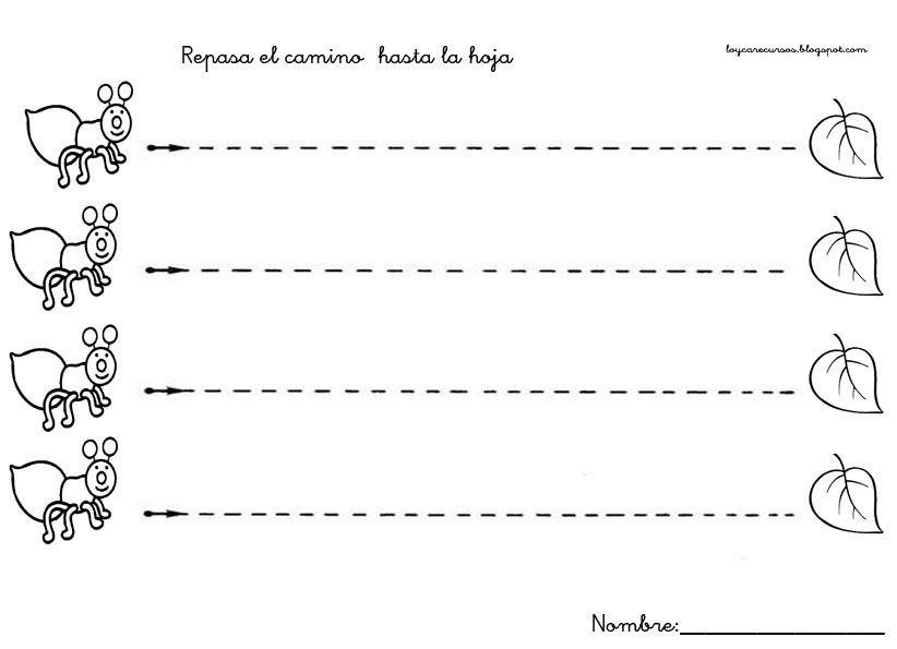 Fichas Para Practicar Los Trazos Verticales Y Horizontales Para