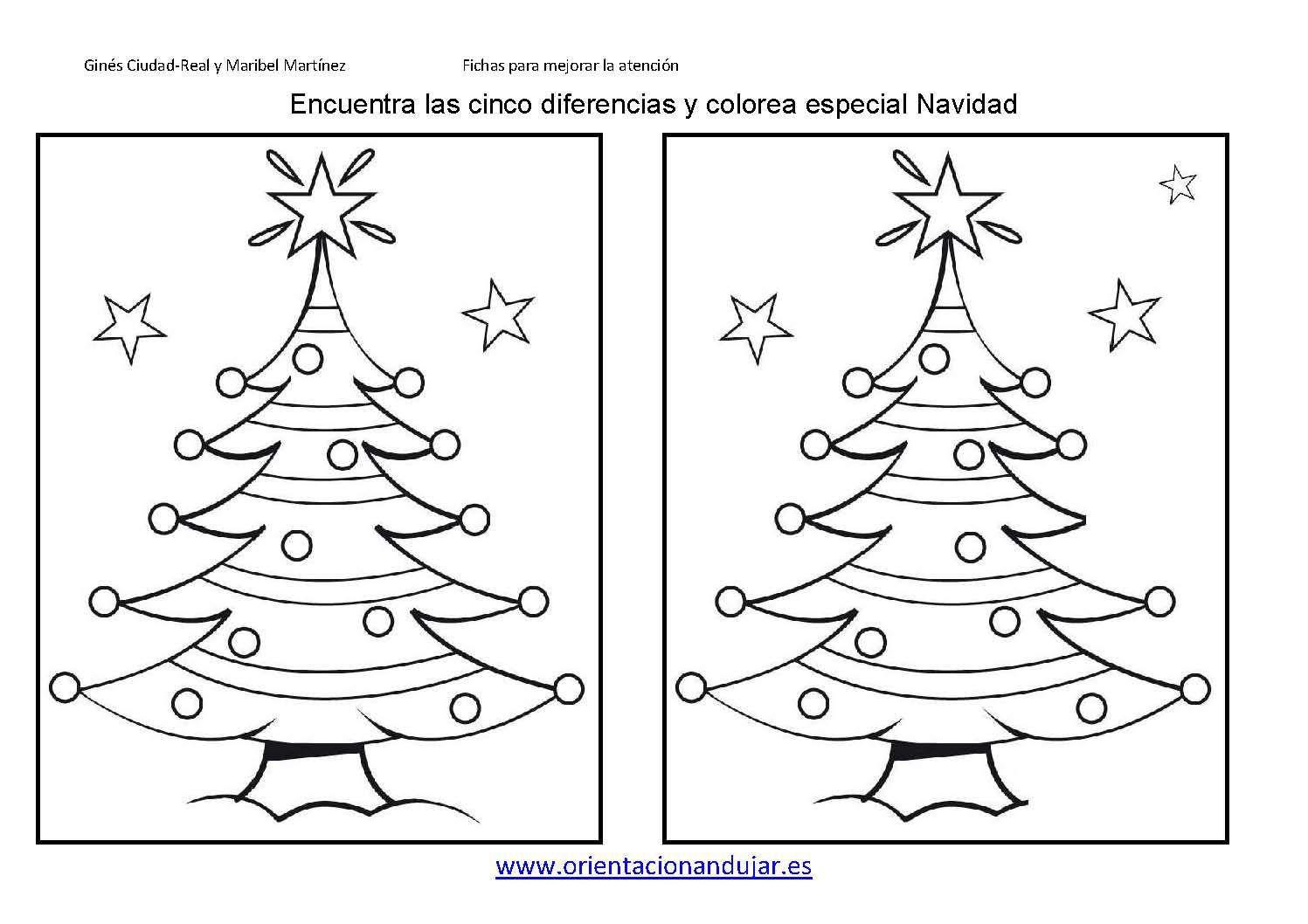 Encuentra Las Diferencias Especial Navidad Ficha 5