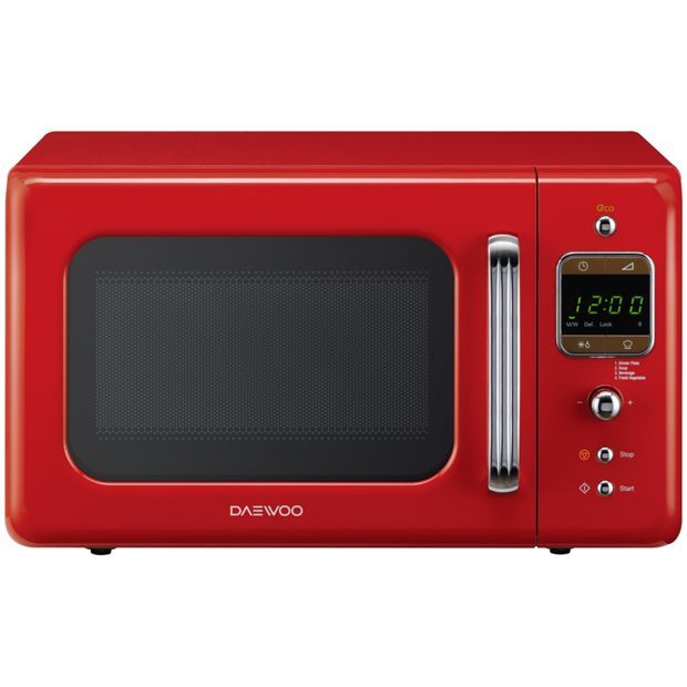 Daewoo Kor7lbkr 20l 800w Retro Standard Microwave Red At Argos Co Uk Visit To Online For Microwaves Kitchen Electricals