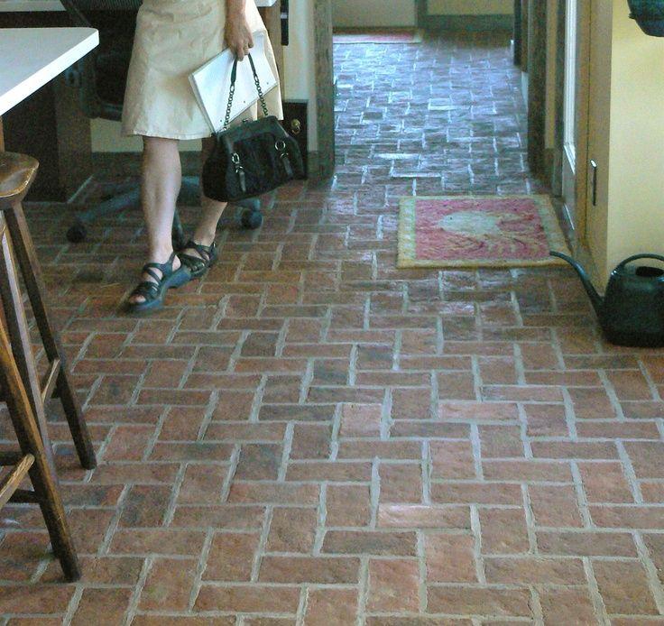 Amazing Interior Brick Pavers #1 Interior Herringbone