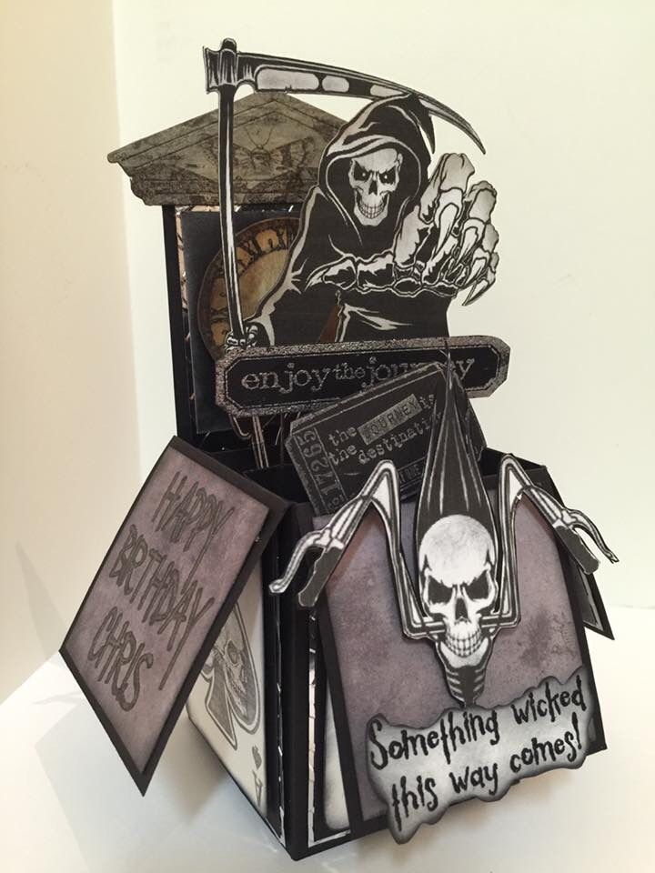 Grim reaper pop up card in a box birthday card card in a box grim reaper pop up card in a box birthday card bookmarktalkfo Image collections
