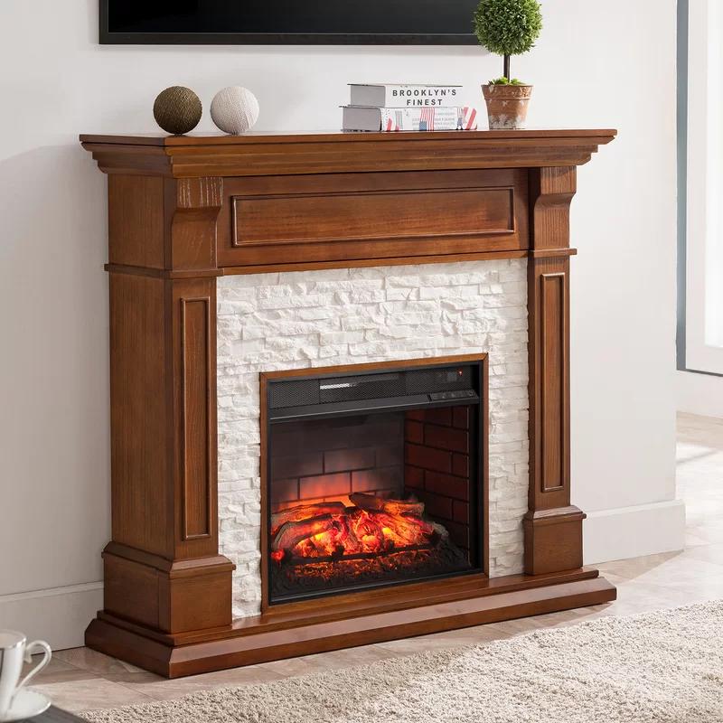 Millwood Pines Mara Electric Fireplace Reviews Wayfair Media