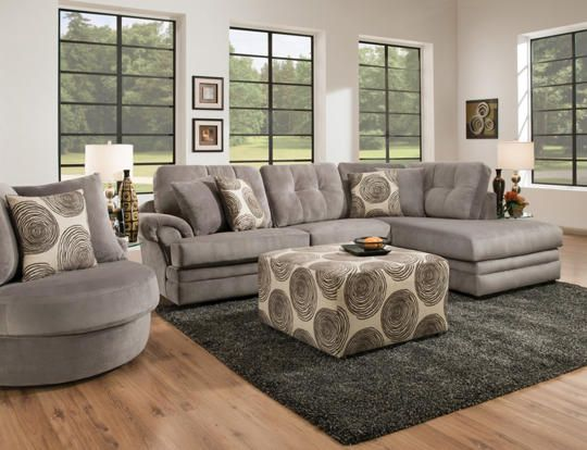 Best Baker Swivel Chair Art Van Furniture Big Swirl Grey 400 x 300