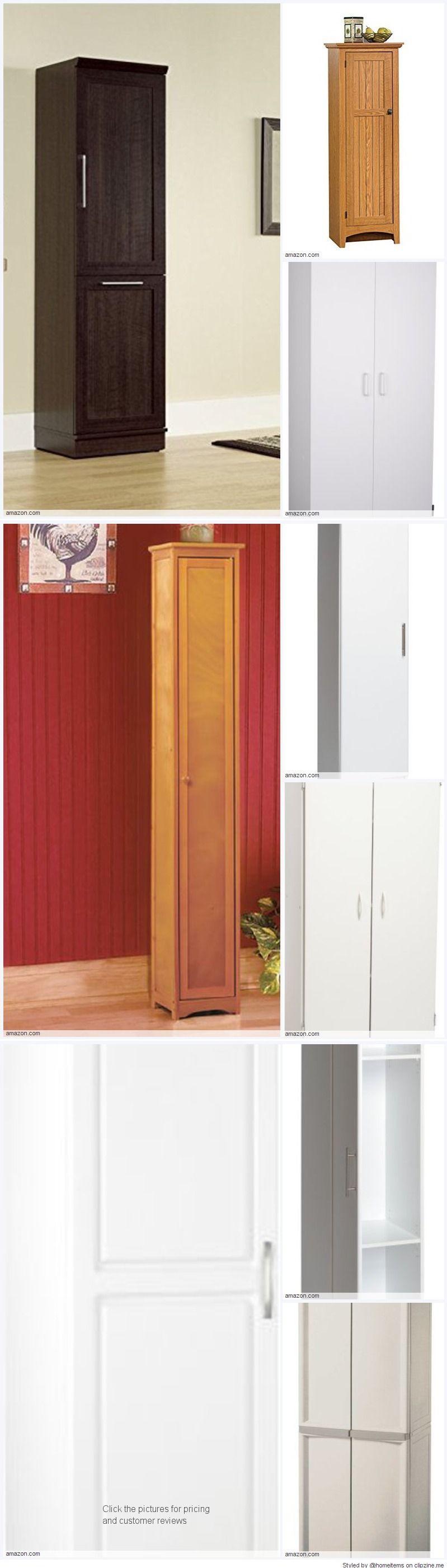 Free Standing Broom Closet Cabinet For The Kitchen Or Garage Trendy Kitchen Kitchen Design Color Kitchen Pantries Diy