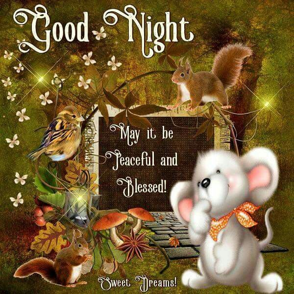 Good Night May It Be Peaceful And Blessed Good Night Good Night