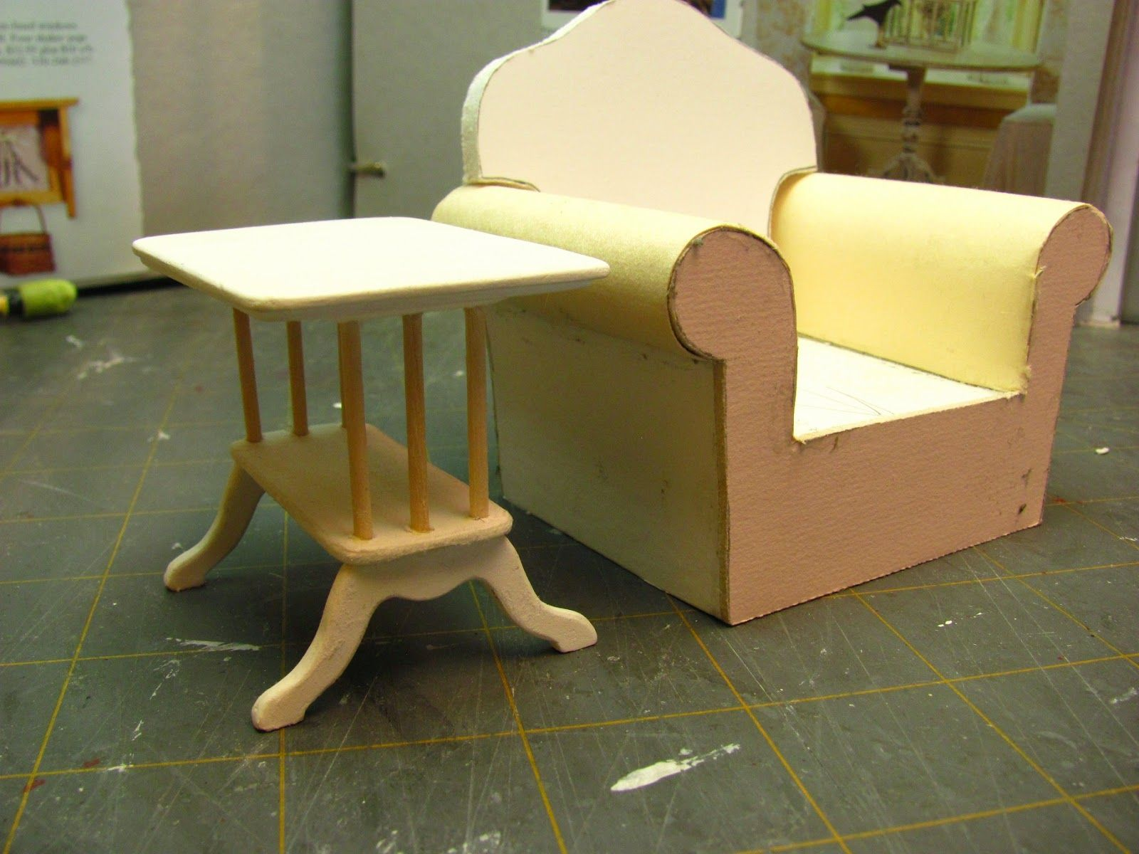 dollhouse sofa small space sectional 1 inch scale end table tutorial how to make a