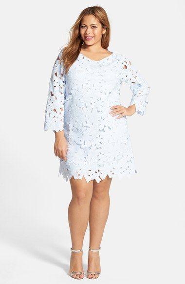 Plus Size Women\'s FELICITY & COCO Floral Lace Shift Dress ...