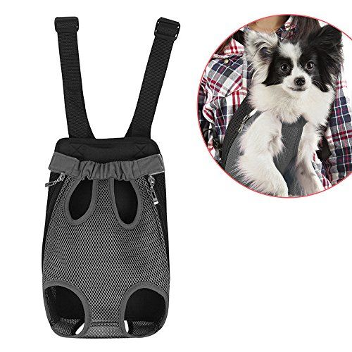 Dog Carrier | Comfortable Legs Out Front Dog Carrier Backpack | Travel Dog Cat Pet Bag for Travel Cycling with Adjustable Shoulder Strap and Inner Collar | Vibrant Grey , S >>> Want to know more, visit