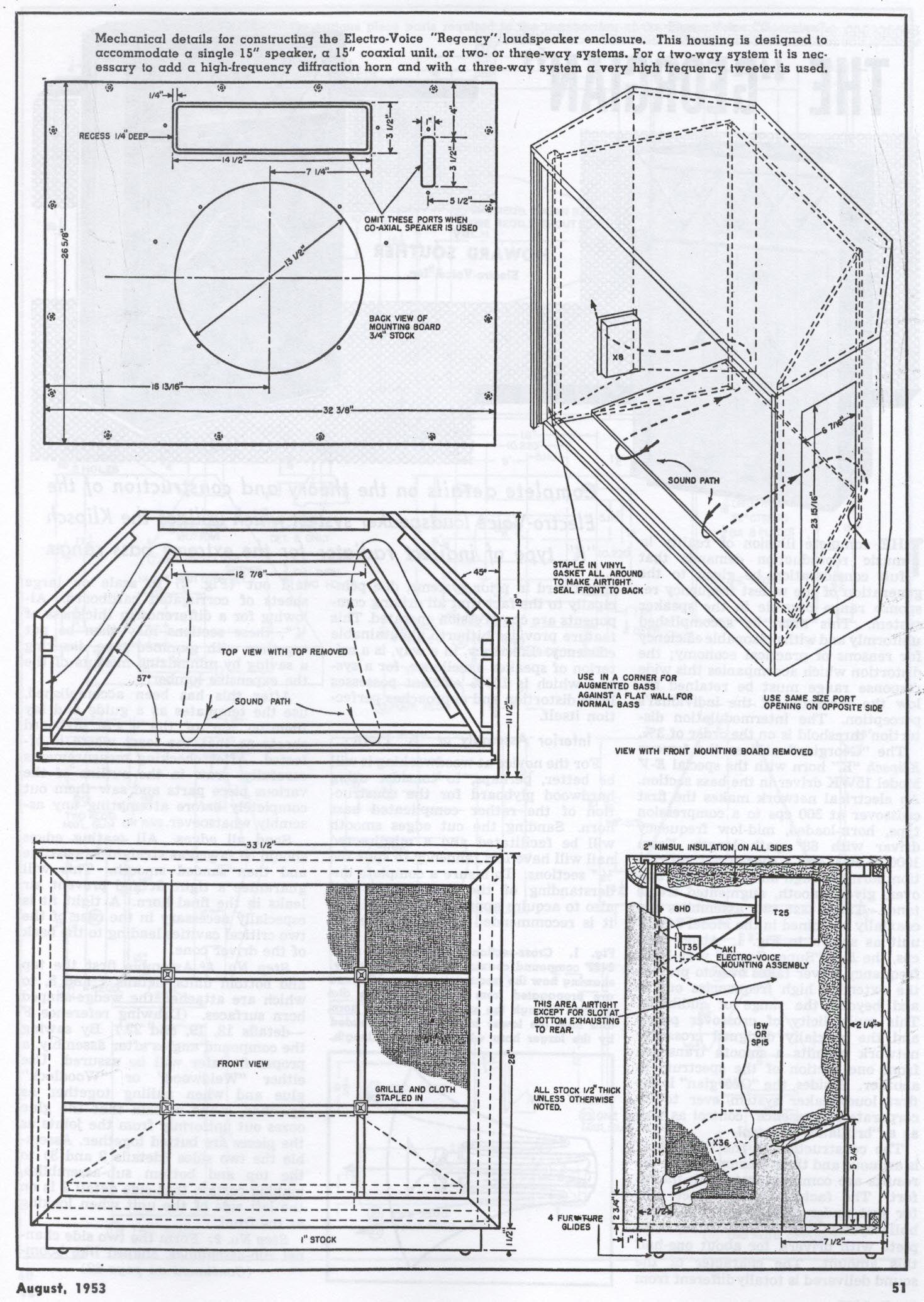 Skema box speaker woofer search results woodworking project ideas - Klipschorn Plans Google Search