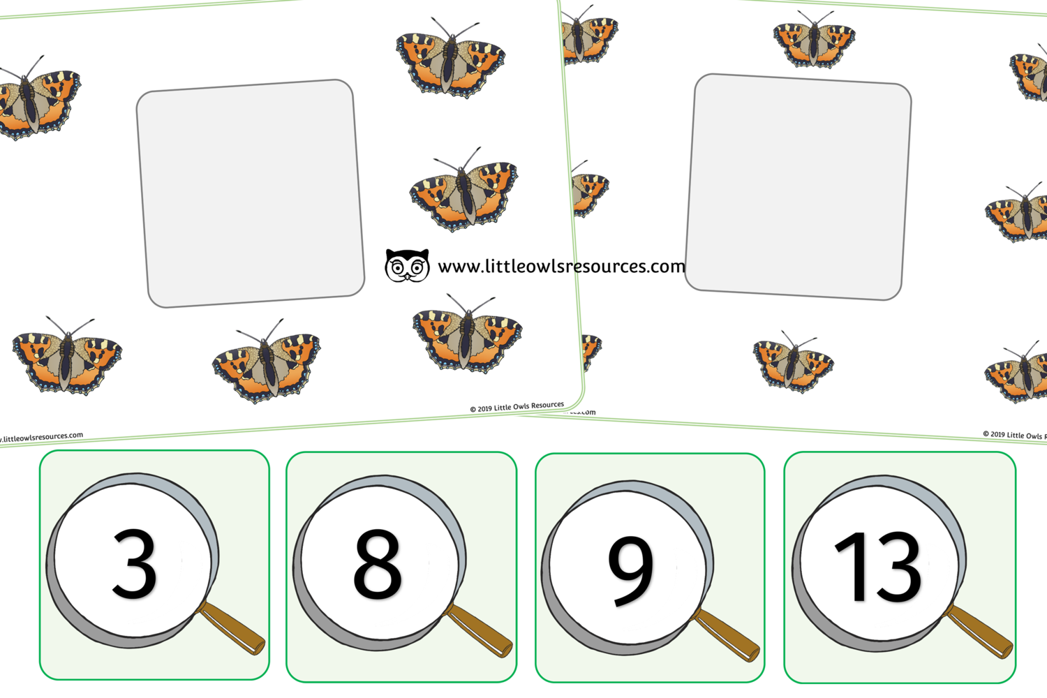 Free Butterfly Number Match Printable Early Years Ey Eyfs