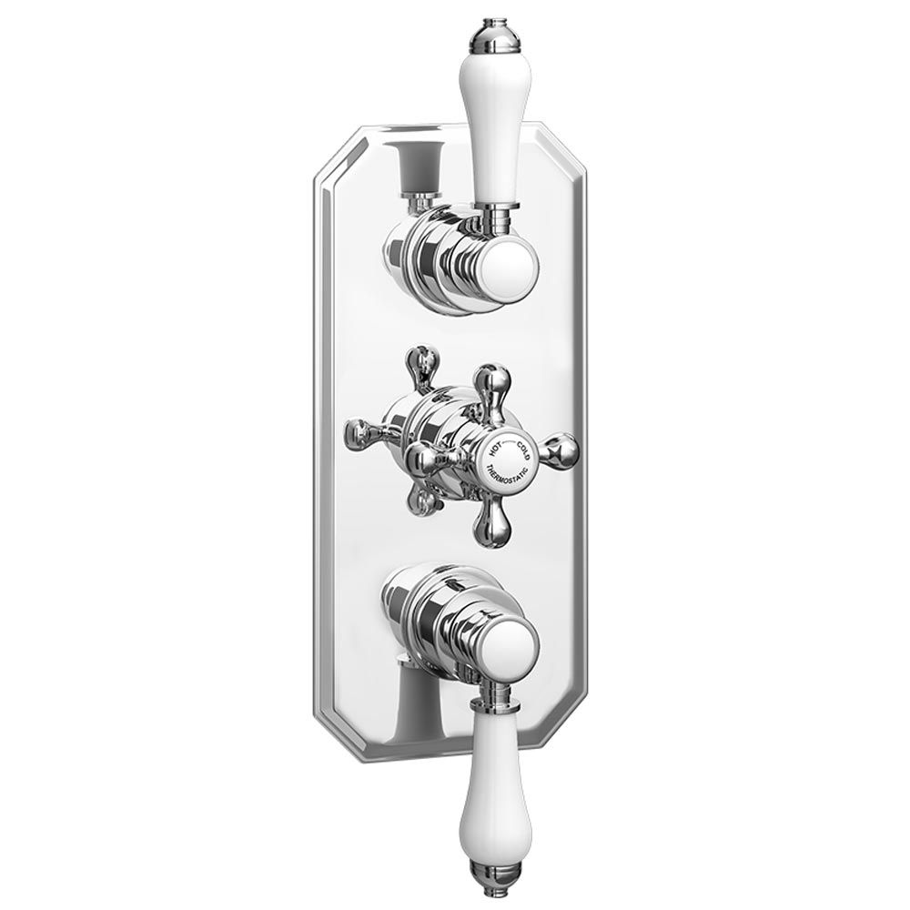 Trafalgar Traditional Triple Concealed Thermostatic Shower Valve ...