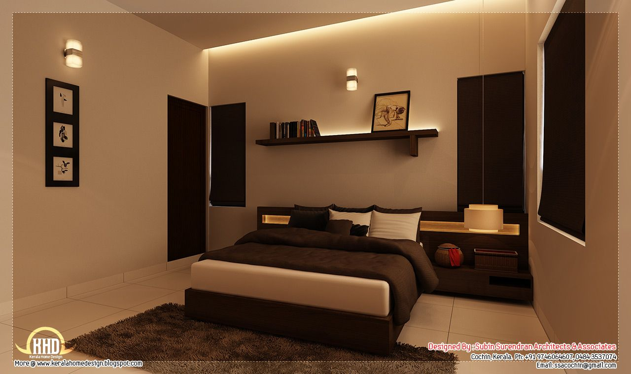Kerala home design interior bedroom -