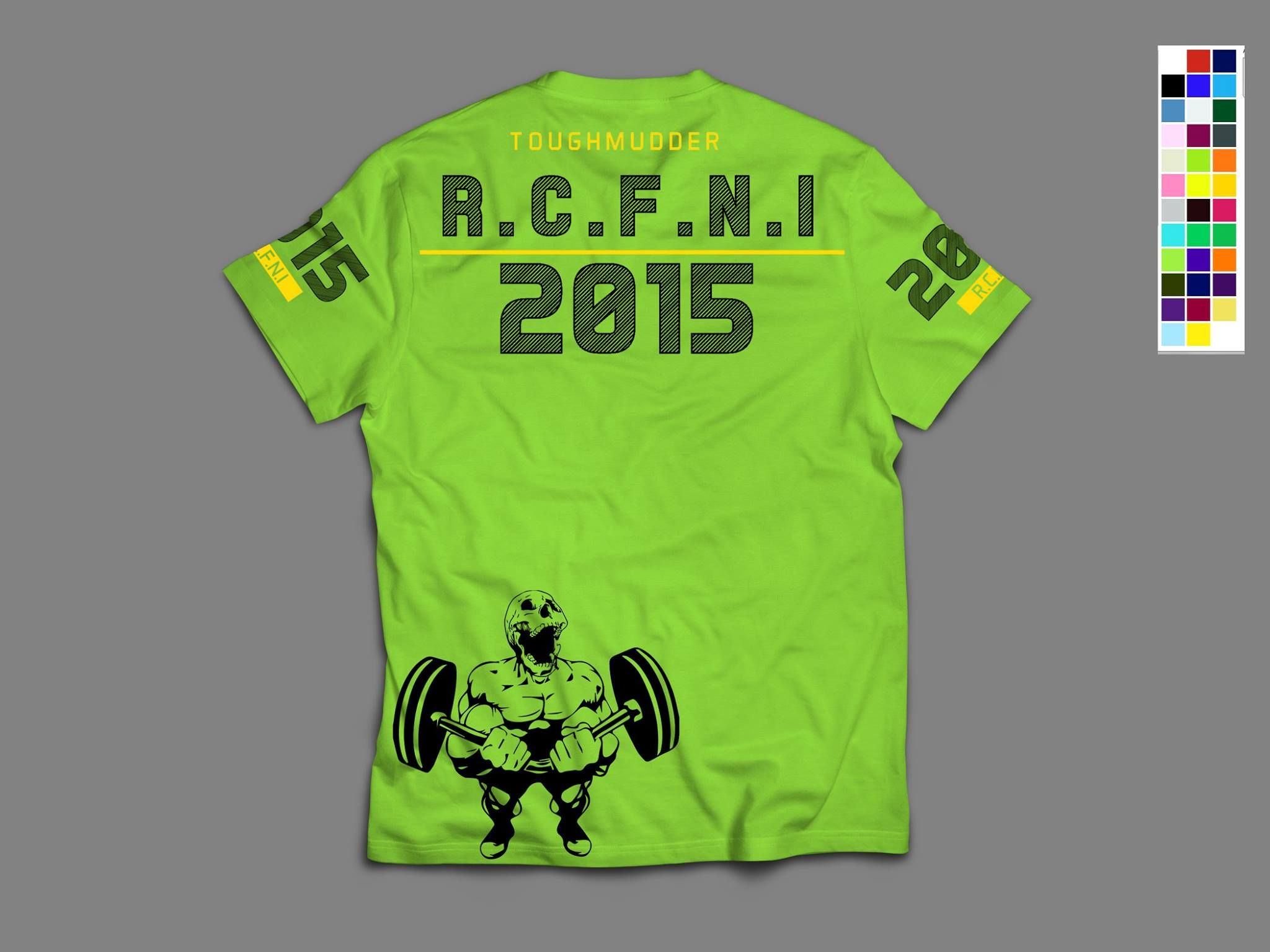 Front - Lime Green - Black