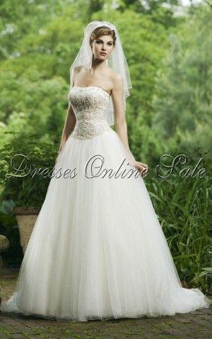 Weißes Prinzessin-Stil Trägerloser Ausschnitt Bodenlanges Kleid ...