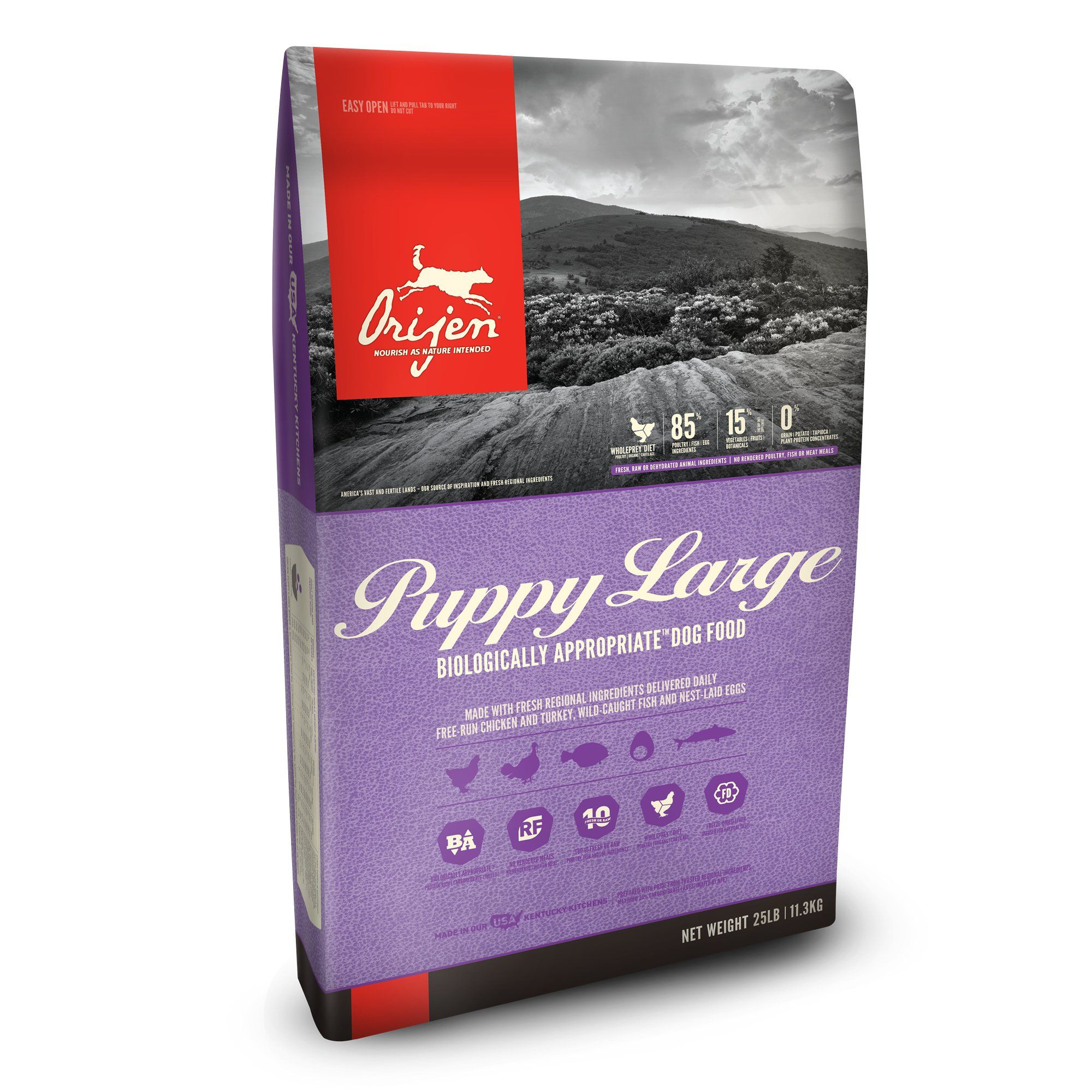 Orijen Puppy Large Dry Dog Food 25 Lbs Large Breed Puppy Food