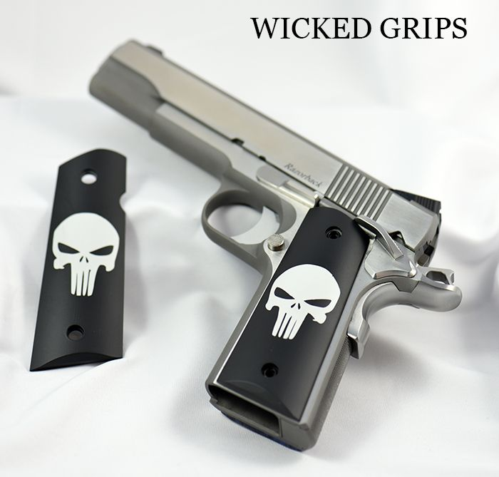 1911 CUSTOM GRIPS CLASSIC PUNISHER CERAKOTE - Wicked Grips - 1911 CUSTOM…Loading that magazine is a pain! Excellent loader available for your handgun Get your Magazine speedloader today! http://www.amazon.com/shops/raeind