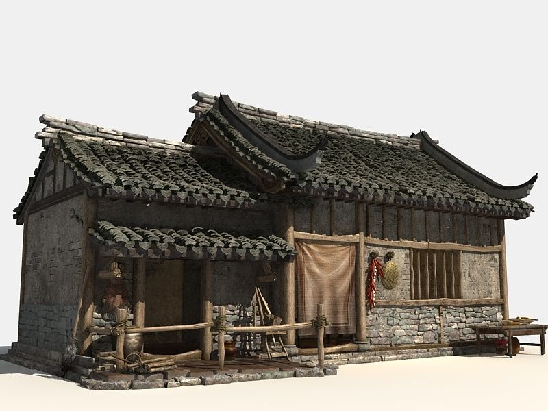 Chinese Old House 1 3d Turbosquid 1527856 Asian Architecture Chinese Architecture 3d Model Architecture