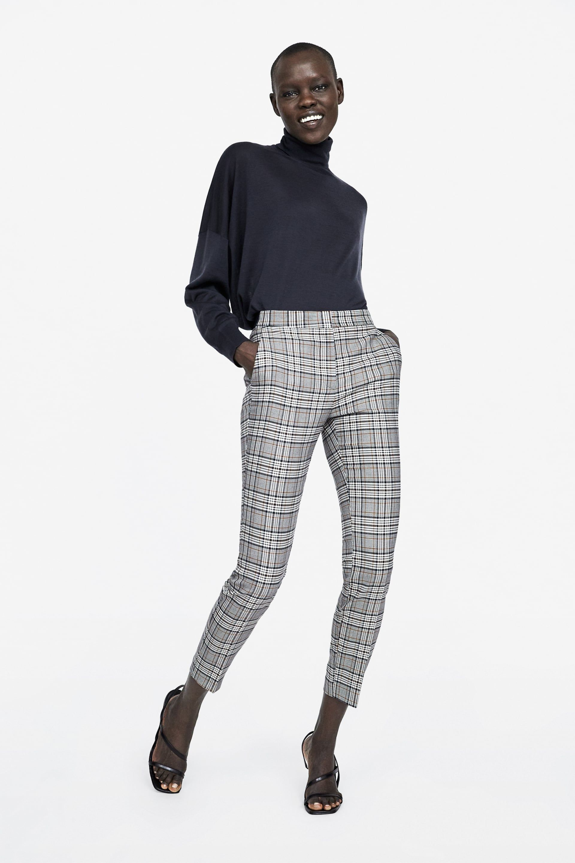 a1d19003 Check skinny trousers in 2019 | Becca shopping | Trousers, Pants ...
