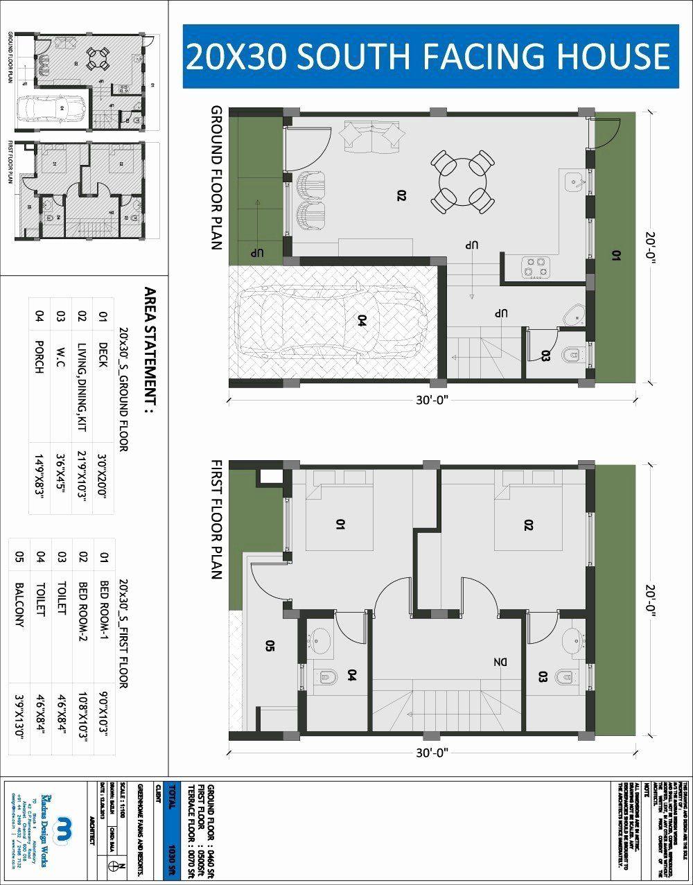 10 X 20 House Plans Awesome 20x20 House Plans 20x20 Duplex 20x20h1 683 Sq Ft Excellent Bathroom Floor Plans Bungalow Floor Plans Bedroom House Plans