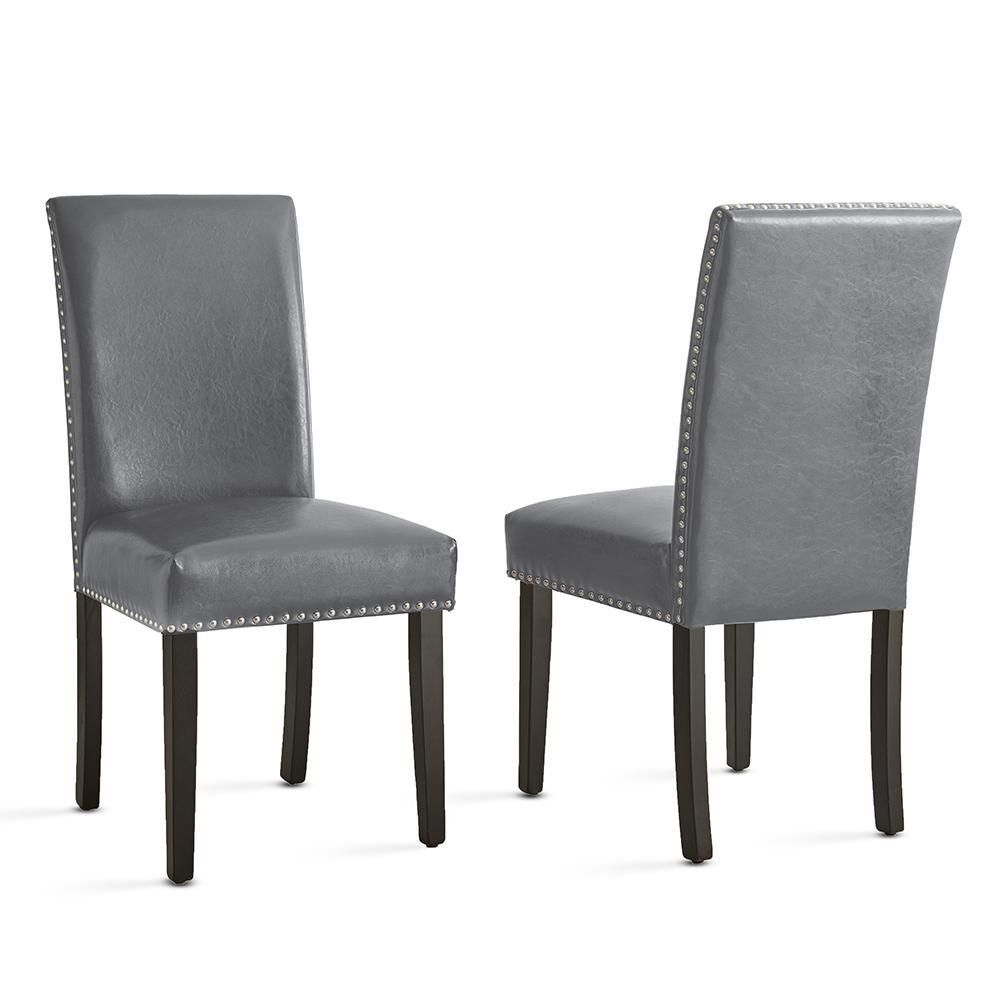 Fine Steve Silver Verano Contemporary Gray Side Chair Set Of 2 Onthecornerstone Fun Painted Chair Ideas Images Onthecornerstoneorg