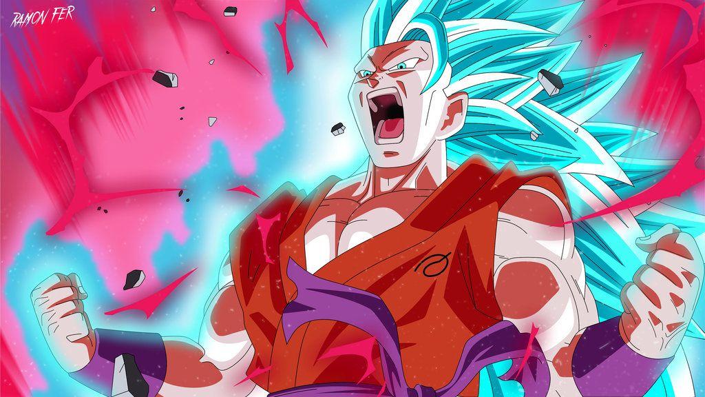 Goku Super Saiyan Blue 3 Super Kaioken 10x By Ramonfer On Deviantart Super Saiyajin Goku Super Saiyan Anime