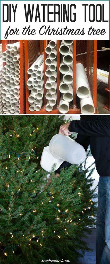 An Easy Diy Christmas Tree Watering Funnel Easy Christmas Diy Diy Christmas Tree Holiday