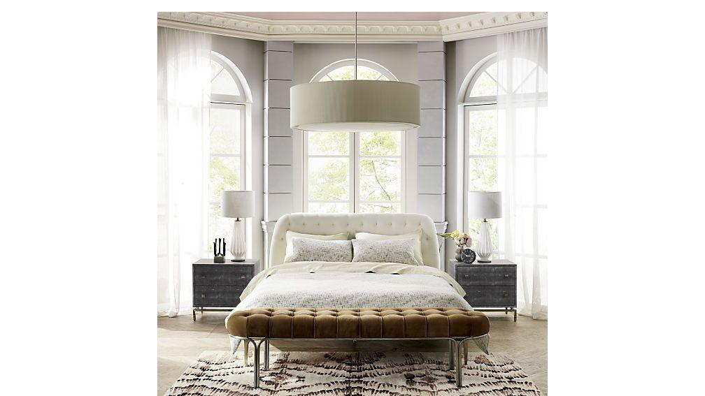 Best Luxey Tufted Bench From Cb2 Velvet Bed Home Bedroom 640 x 480