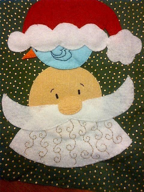 cuadros con apliques de fieltro de navidad