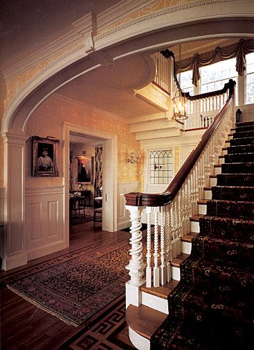 Colonial Revival Interior Design Colonial Staircases