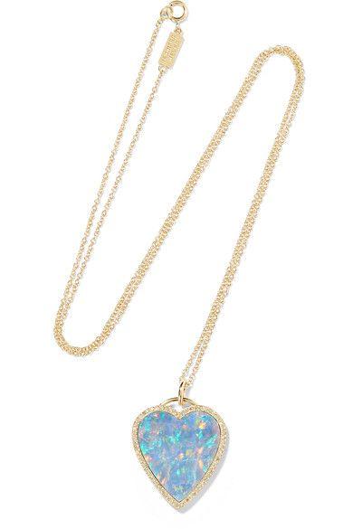 Jennifer Meyer 18-karat Gold, Opal And Diamond Necklace
