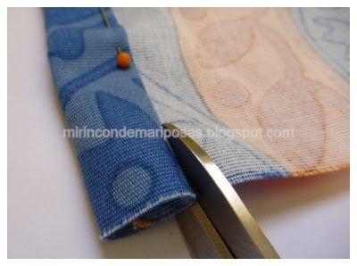 mi rincón de mariposas: Bolsa de tela para la merienda